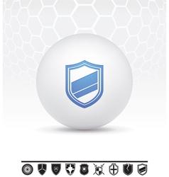 Shields icon vector