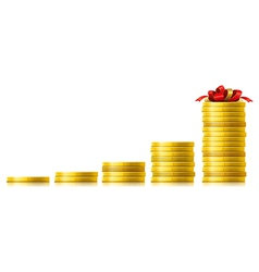 Coins growth vector