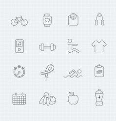 Exercise thin line symbol icon vector