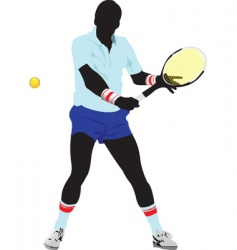Tennis man vector