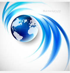 Abstract soft blue wave background vector