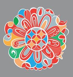 Fantasy color mandala vector