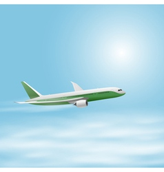 Airplane in the sky vector