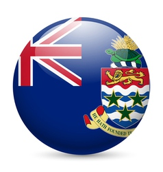 Round glossy icon of cayman islands vector