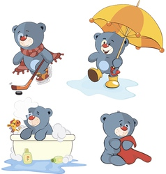 Bear set vector