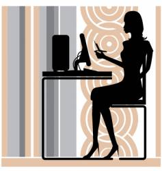 Stylish office girl vector