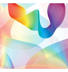 Colorful smoke on the white background vector