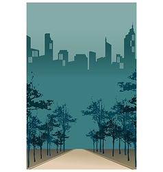 City park path scene vector