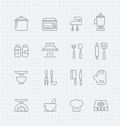 Kitchen thin line symbol icon vector