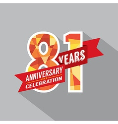 81st years anniversary celebration design vector