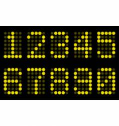 Yellow digits for matrix display vector
