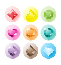 Precious gems icons vector