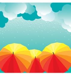 Umbrellas illustration vector