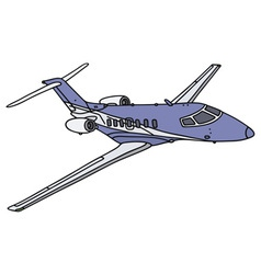 Small business jet vector