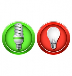 Replacement of outdated incandescent bulbs vector