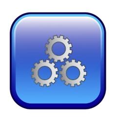 Settings sign web button icon vector