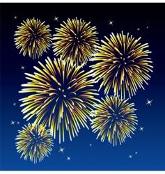 Yellow fireworks vector