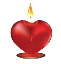 Valentine candle vector