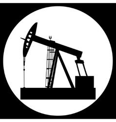 Pump jack oil crane vector