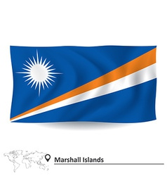 Flag of marshall islands vector