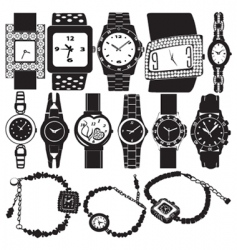 Fashion watch vector