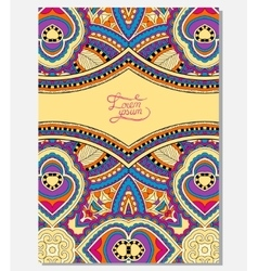 Yellow floral ornamental template with place for vector