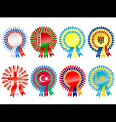 Rosettes to represent eastern european countries i vector