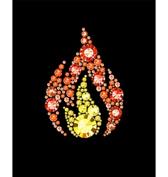 Gem fire symbol vector