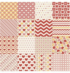 Seamless heart retro pattern vector