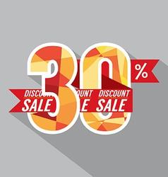 Discount 30 percent off vector