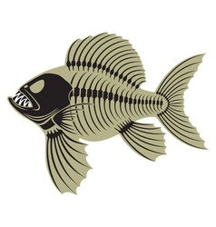 Prehistoric fish vector