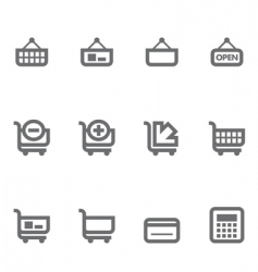 Simple icons vector