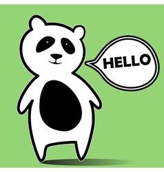 Panda hello vector