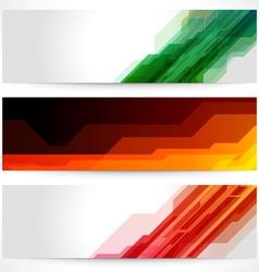 Futuristic banners vector
