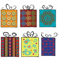 Grunge assorted present gifts vector