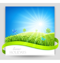 Summer holiday banner vector
