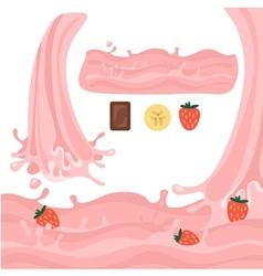Milk splash design elements vector