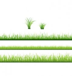 Grass collection vector