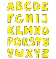Alphabet letters hand drawn set isolated on white vector