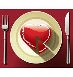Heart slice vector