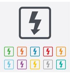 Photo flash sign icon lightning symbol vector