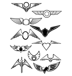 Heraldic emblems set vector