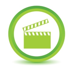 Green film icon vector