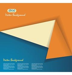 Origami banner vector