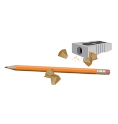 Pencil and sharpener vector