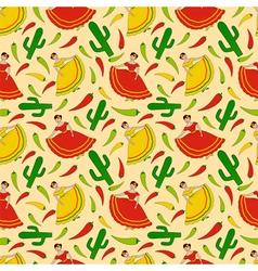 Mexican women pattern vector