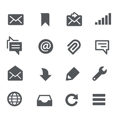 Messages icons - apps interface vector