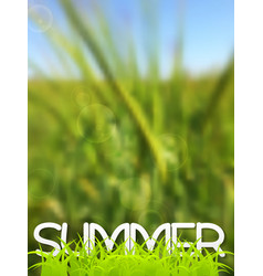 Abstract green blurred summer background vector
