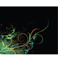 Splash floral background vector