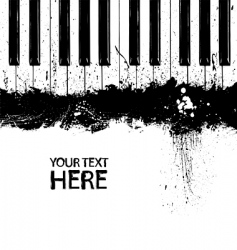 Grunge piano keys vector